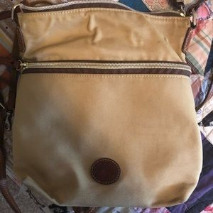 Tan Dooney and Bourke cross body purse